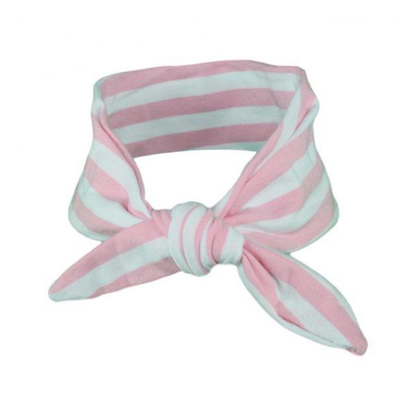 Light Pink & White Stripey Baby/Toddler Hair Wrap