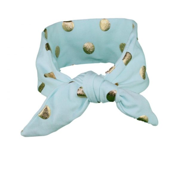 Turquoise & Gold Baby/Toddler Hair Wrap (Hand wash only)