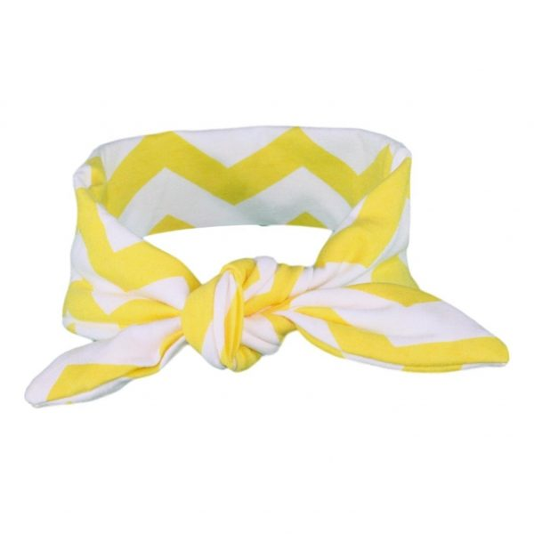 Yellow & White Chevvy baby/Toddler Hair Wrap