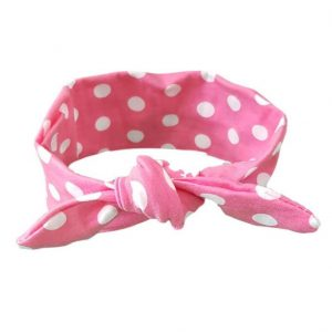 Light Pink & White Spotty Baby/Toddler Hair Wrap