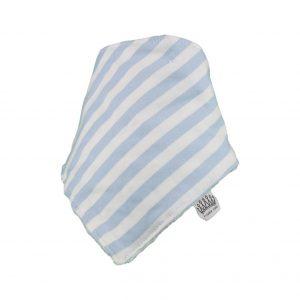 Baby Blue & White Stripey Bib