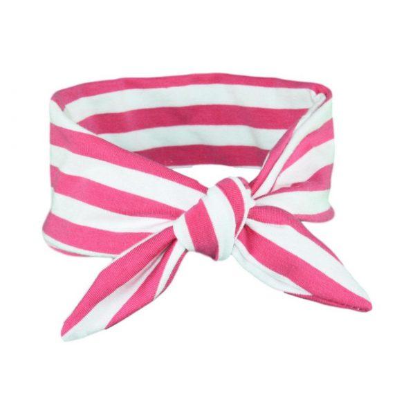 Fuchsia Pink & White Stripey