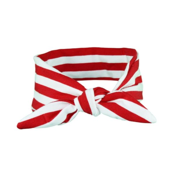 Red & White stripey hair wrap