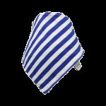 Blue & white stripe Frankie Lola bib