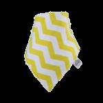 Yellow & white chevron Frankie Lola bib