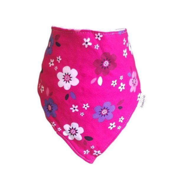 blooming pink bib
